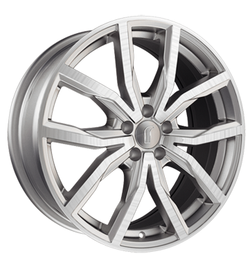 tire - 8x17 5x120 ET30 Rondell 02RZ silber silber matt poliert Special tools Rims / Alu Car racing Steering and axle suspension tire