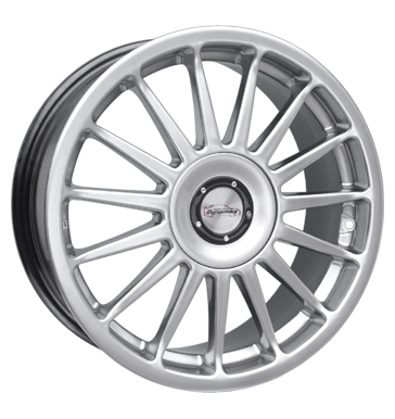 tire - 7.5x18 5x108 ET37 Team Dynamics Monza silber silber lackiert Fuel filters Rims / Alu Valve tools Baro tire