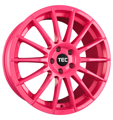 tire - 7.5x17 5x110 ET38 TEC Speedwheels AS2 pink pink Valve cars Rims / Alu Adhesive weights MB-Italia tire