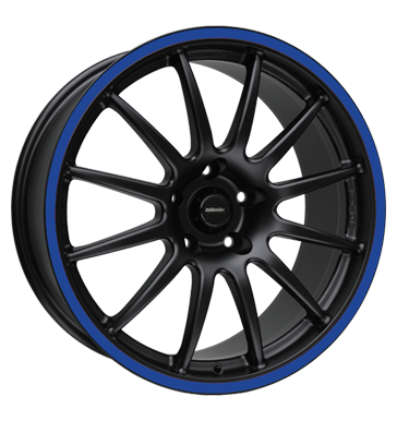 tire - 8x18 5x114.3 ET35 Team Dynamics Pro Race 1.2S schwarz racing-black + Felgenhorn blau AUTEC Rims / Alu Car tuning + styling Valve light trucks / vans wheels
